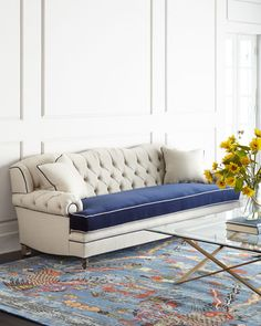 4299  horchow  H8A35 Haute House Classic Mr. Smith Sofa
