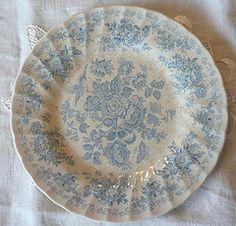 pale blue & white plates