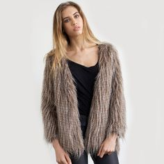 Zoe Faux Fur Coat, $79, now featured on Fab.