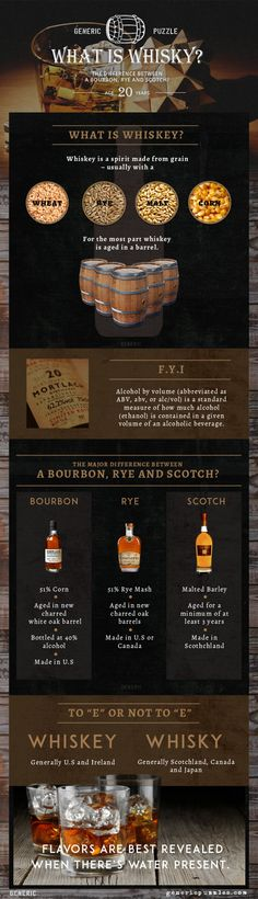 Whiskey 101 Infographic
