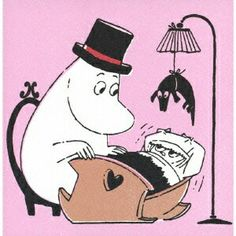 Like Moomin papa I think I have forgotten alot about the art of babysitting small children, or perhaps those hard fought for bedtime routines have just been hidden far in the back of my mind for only a therapist to see. ムーミン