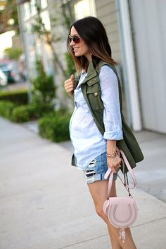 baby bump style, pregnancy style, utility vest, itsy bitsy indulgences