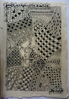 Doodle Art Drawing, Zentangle Drawings, Doodles Zentangles, Mandala Drawing, Abstract Drawings, Zen Doodle, Zentangle Patterns, Mosaic Patterns, Tangle Art