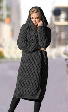 Only Cardigan, Long Knit Cardigan, Cardigan Outfits, Knit Dress, Cute Casual Outfits, Pretty Outfits, Chic Outfits, Pakistani Dresses Casual, Knit Fashion