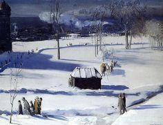 George Bellows (American: 1882–1925) | Blue Snow the Battery (1910)