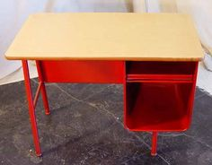Vintage Metal Mid Century Child S School Desk
