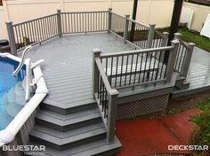 Using a lighter color for a pool deck can keep the surface cooler than if you were to use a darker board.