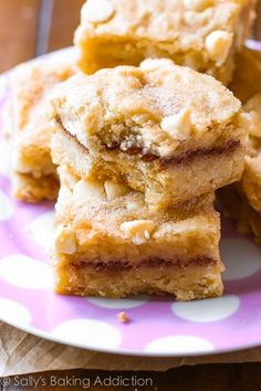 Soft cinnamon-sugary Snickerdoodle Blondie Bars!