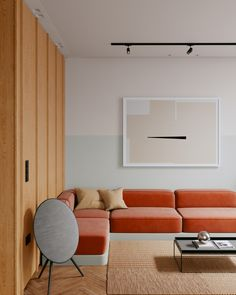 Minimalism Living, Green Accent Walls, Living Spaces, Living Room, Kitchen Colors, Interior Design Inspiration, Apartment Living, Colorful Interiors, House Colors