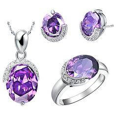 Virgin Shine Platinum Plated Rhinestones Circled Bean Jewelry Sets Purple VIRGIN SHINE http://www.amazon.co.uk/dp/B00KWF44QE/ref=cm_sw_r_pi_dp_RnWLub1T63388