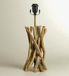 simple driftwood table lamp