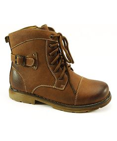 Take a look at this Brown Hiking Boot by Conal on @zulily today!