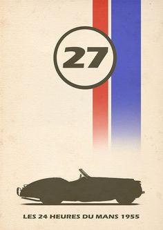Vintage racing poster, 1955