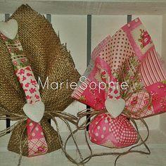 μπομπονιέρα#λινάτσα#floral#heart www.mariesophie.gr