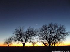 Winter Sunset with Moon, January 2013