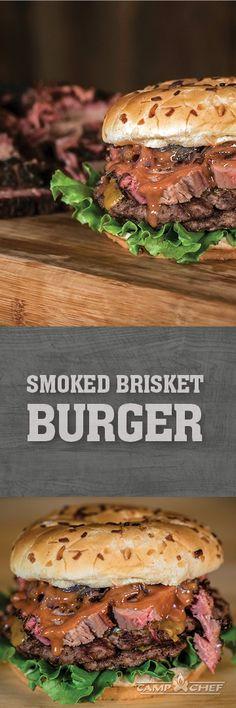 Fire up your SmokePro pellet grill because you've got to try these smoked brisket burgers. Fresh beef patties with a stack of smoked brisket. I can't think of a better possible combination. http://www.campchef.com/recipes/smoked-brisket-burgers/