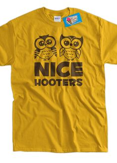 Nice Hooters Retro Owl Screen Printed TShirt Tee by IceCreamTees, $14.99