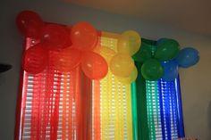 Rainbow Party Backdrop #rainbowparty #backdrop