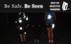 Reflective Iron Ons - Safety Reflectors - Clothing Reflectors | ion Designs. Great for running, biking, walking, etc when it's dark!!!