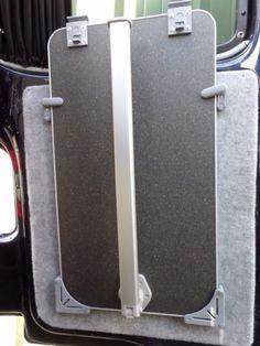 Table Storage/ Stowage Bracket Kit for Camper/ VW - Grey (inc. Volkswagen Transporter, Transporteur Volkswagen, Bus Vw, Vw T5 Campervan, Campervan Interior, Vw T5 Interior, Ford Transit Camper, Car Camper, Camper Van