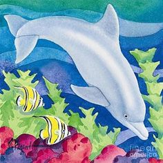 Painting - Dolphin Friend by Paul Brent