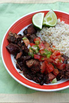 Slow Cooker Brazilian Black Bean and Pork Stew
