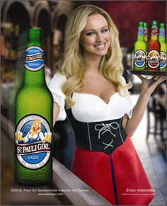 St Pauli Girl, and a German beer girl. St Pauli Girl Beer, Beer Maid, I Like Beer, Beer Bucket, Oktoberfest Beer, German Oktoberfest, Beer Poster, Beer Girl, German Beer