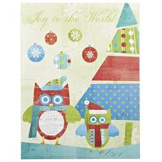 Pier 1 Holiday Owls Wall Art