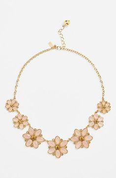 kate spade new york 'floral fete' graduated flower necklace   Nordstrom