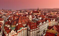 Обои для рабочего стола Крыши домов в Праге