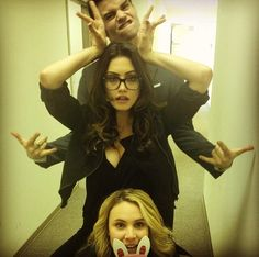 Daniel Gillies, Phoebe Tonkin and Leah Pipes
