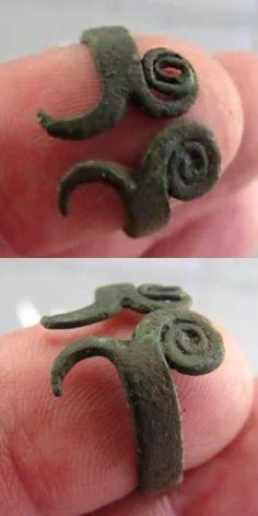 Great design. Ancient Viking bronze spiral ring.