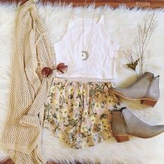 """Love this #OOTD  Should we bring these shorts back? <3 Only a few Dayana knit cardigans left ☺️ Enjoy 10% off everything using code """"love"""" @ootdfash  www.ootdfash.com  Shop link in our bio  #ootdfash"""