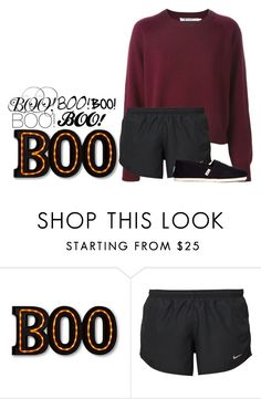 """""""Happy Halloween! 🎃🎉"""" by dejonggirls ❤ liked on Polyvore featuring NIKE and TOMS"""