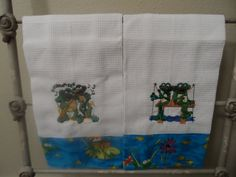 Frog Waffle Weave Towels