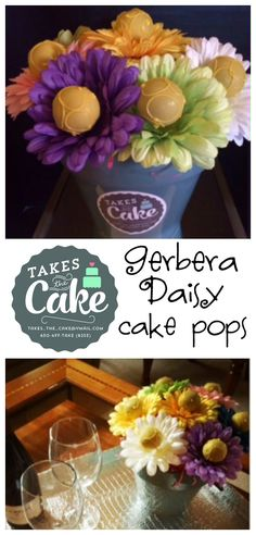 Pint Sized Baker: How to Make Gerbera Daisy Cake Pops