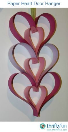 This easy to make paper heart decoration is easy enough for child to make. It's a nice Valentine's Day or Mother's Day project. This is a guide about making a Paper Heart Door Hanger. Valentine Crafts For Kids, Valentines Day Hearts, Valentines Day Decorations, Valentines Diy, Holiday Crafts, Foam Crafts, Diy Crafts, Crafts With Foam Sheets, Foam Sheet Crafts