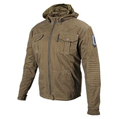 DOGS OF WAR™ JACKET OLIVE WITH C.E. approved shoulder, elbow and spine protectors.