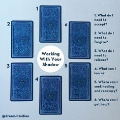 Working with Your Shadow - a tarot spread. Designed to uncover what is hidden… #tarotcards&inspiration