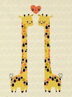 """""""La giraffa ha il cuore lontano dai pensieri. Si è innamorata ieri, e ancora non lo sa..."""" (Stefano Benni)"""