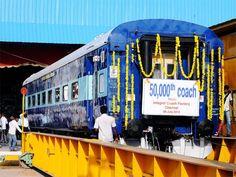 Slideshow : Suresh Prabhu flags off 50,000th coach made at Integral Coach Factory - Suresh Prabhu flags off 50,000th coach made at Integral Coach Factory - The Economic Times