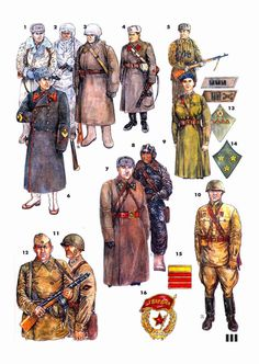 Picture gallery of uniform of the Red Army Military Diorama, Military Art, Military History, Ww2 Uniforms, Military Uniforms, Eastern Front Ww2, Soviet Army, Soviet Union, Red Army
