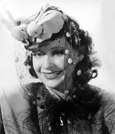 Actress Signe Hasso wearing what might just be the most Eastery Easter bonnet ever, 1941. #Easter #1940s #vintage #hats