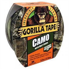 Gorilla Camo Tape With Matt Finish x (Free UK Delivery) Army Shop, Gorilla Tape, Duct Tape, Free Uk, Camo, It Is Finished, Wood Stone, Plaster, Brick