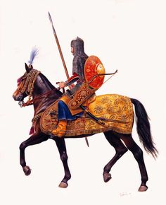Pictures of Enemies of the Steppe Warriors Military Art, Military History, High Fantasy, Fantasy Art, Thirty Years' War, Ancient Persia, Arm Armor, Historical Art, Illustrations