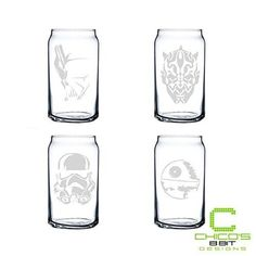 Star Wars - Dark Side - Can Glass Set of 4 * You can get additional details at the image link.