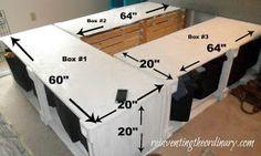 Platform bed w storage. Double/Full measurements