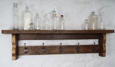 Reclaimed Timber Coat Rack with Shelf. www.hausmartyns.co.uk