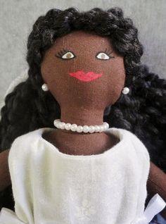 African American Bride Doll - Cloth Doll