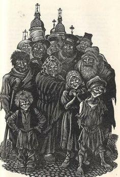 Fritz Eichenberg, illustrations to Crime and Punishment,1938.